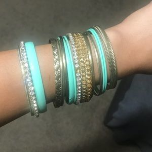 Gold and Teal Bangels